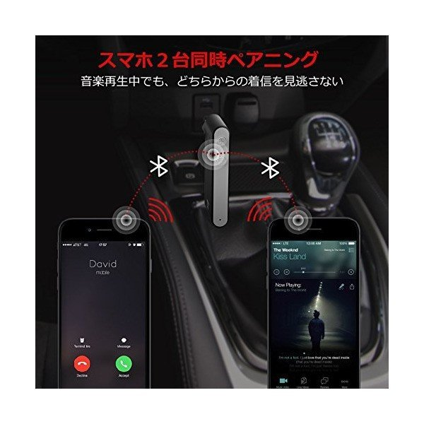 [aptX 対応] TaoTronics Bluetooth オーディオ レシーバー (15時間連続再生 二台同時接続可 CVC6.0ノイズキャンセ|skygarden|04