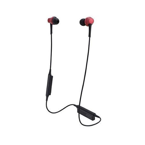 オーディオテクニカ Ver.4.1 Bluetooth対応ワイヤレスヘッドセット(ブリリアントレッド)audio-technica ATH-CKR7