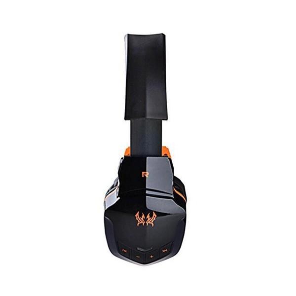 ワイヤレスゲームヘッドセット、B3505 V4.1 BluetoothゲームヘッドセットPC用マイク付きヘッドホンMacノートパソコン (オレンジ)