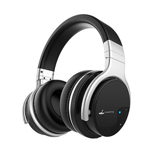 Meidong E7B ワイヤレス ノイズキャンセリング Bluetooth ヘッドホン 密閉型 高音質 内蔵マイクケーブル着脱式 30時間再生 ハ