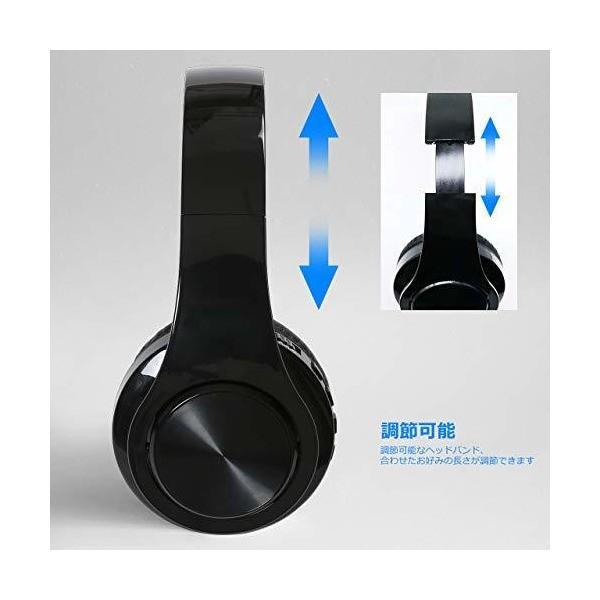 ACSUN Bluetooth ヘッドホン 折りたたみ式 ケーブル着脱式 マイク内蔵 高音質 iphone&android多機種対応