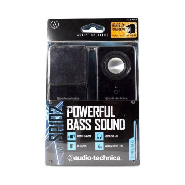 audio-technica デスクトップスピーカー ブラック AT-SP102 BK
