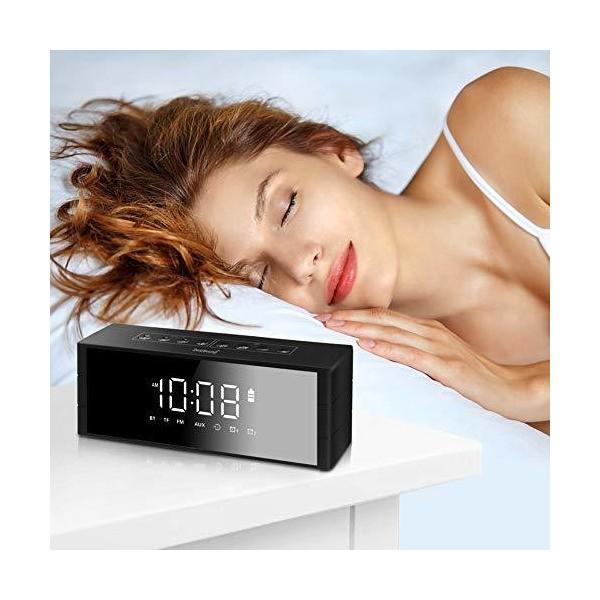 ZealSound Bluetoothスピーカー 時計スピーカー ブルートゥース ワイヤレス スピーカー ポータブルスピーカー ポータブルオーディオ