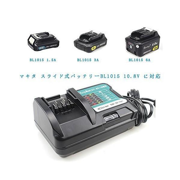 マキタ BL1015 バッテリー 充電器 DC10SA 10.8V12V 対応 BL1030 BL1050 BL1060 適用 電池用交換式チャー|skygarden|05