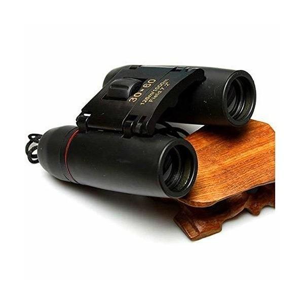 双眼鏡  CamKing 小型双眼鏡 折りたたみ 望遠鏡 30×60高倍率 コンパクトで軽量 (black)