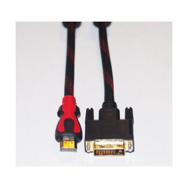 HDMI-DVI変換ケーブル メッシュ 1.8m Cyberplugs