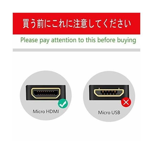 LinRui Micro HDMI to HDMI変換ケーブル マイクロHDMI to HDMI (タイプD to タイプA) 変換ハイスピードケー