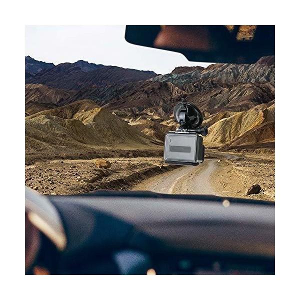 EXSHOW 車フロントガラスマウント GoPro用 アウトドアスポーツカメラホルダー 1/4カメラねじコネクター付き すべてのカメラに対応