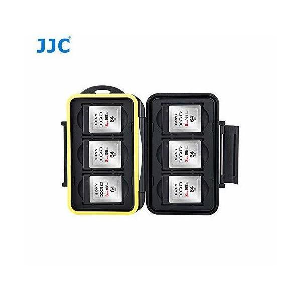 JJC MC-XQD6 防水ストレージメモリーカードケースプロテクター 6つのXQDカード用