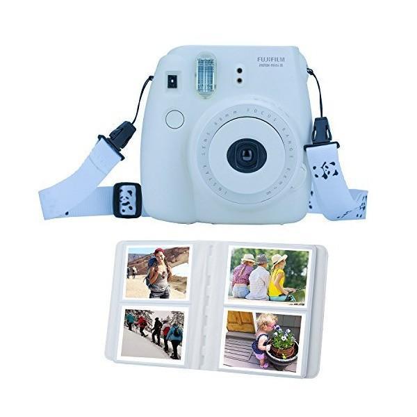 ZWOOS 【12点セット】富士フィルム インスタント カメラ Instax mini8 アクセサリー カメラケース アルバム レンズ フィルタ カ
