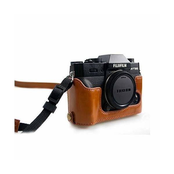 kinokoo 富士 ミラーレス一眼カメラ FUJIFILM XT20 XT10 XT30対応 カメラケース バッテリー交換でき ショルダーストラッ