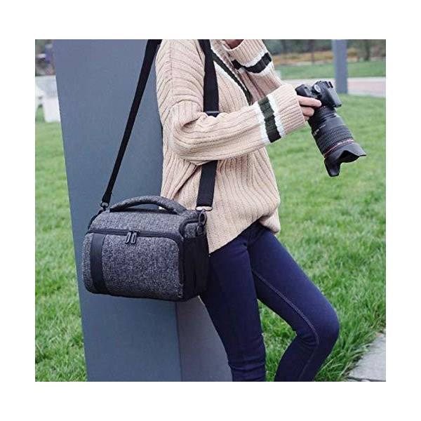 【ダブルレンズキット / ダブルズームキットにピッタリ】カメラバッグ & カメラクリーニングキット ショルダーバッグ 【 Canon Nikon O