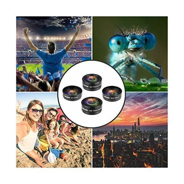 NELOMO スマホカメラ用4イン1レンズキット。適合機種:iphone XR X 8 7, Samsung Galzxy S9 S8, Huawe|skygarden|03