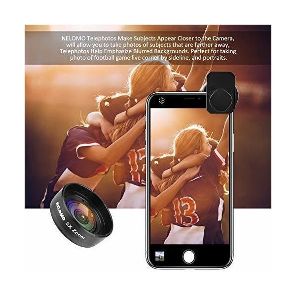 NELOMO スマホカメラ用4イン1レンズキット。適合機種:iphone XR X 8 7, Samsung Galzxy S9 S8, Huawe|skygarden|05