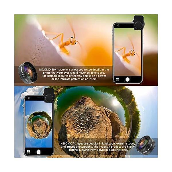 NELOMO スマホカメラ用4イン1レンズキット。適合機種:iphone XR X 8 7, Samsung Galzxy S9 S8, Huawe|skygarden|06