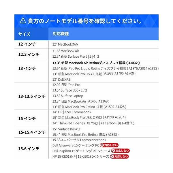 tomtoc 360°保護 耐衝撃 インナーケース 2018 New MacBook Air 13インチ Retinaディスプレイ | 13インチ|skygarden|06