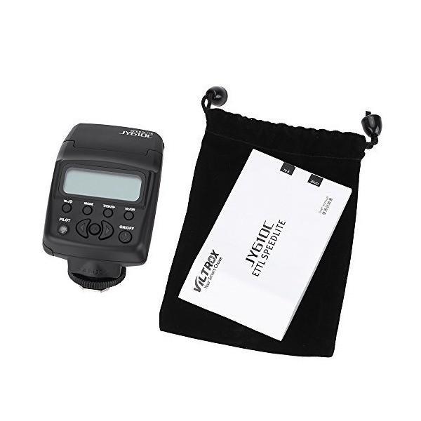 Viltrox JY-610C ミニ 1.5in LCD E-TTL On-camera スレーブ スピードライト フラッシュライト  Canon