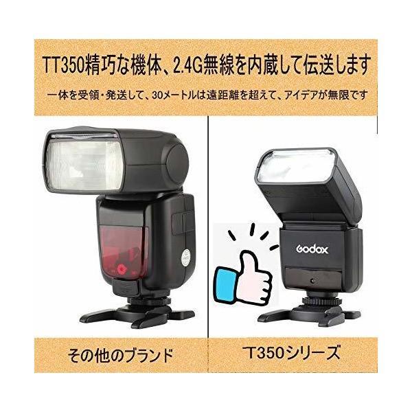 Godox TT350F スピードライト 2.4Gワイヤレス マスター&スレーブ 1 / 8000S HSS TTL フラッシュ スピードライトFU