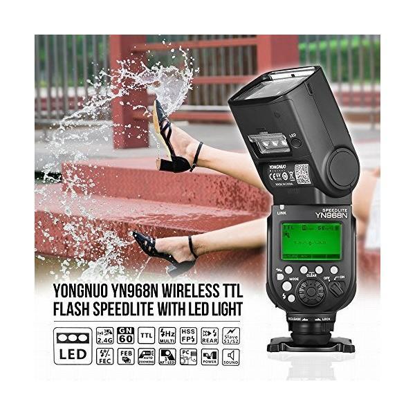 YONGNUO YN968EX-RT フラッシュ スピードライト ワイヤレス TTL マスター 1/8000s HSS 内蔵LEDライト Andoe