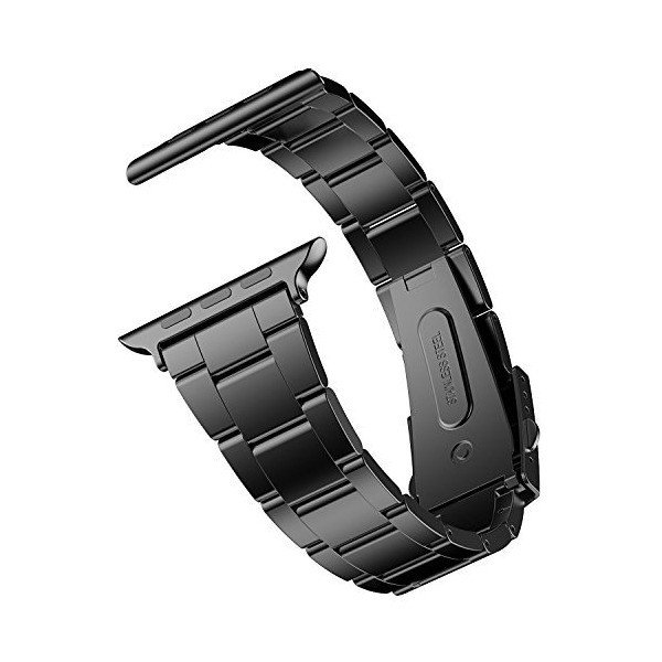 JEDirect Apple Watch 用バンド 38mm と 40mm Series 1 2 3 4対応 ステンレス留め金製 ブラック|skygarden