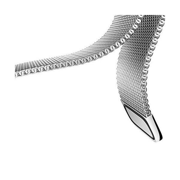 22mm腕時計バンド Pinhen ステンレス鋼バンド ミラネーゼバンド 本革シリコーンストラップ 交換バンド 対応Gear S3,Pebble T