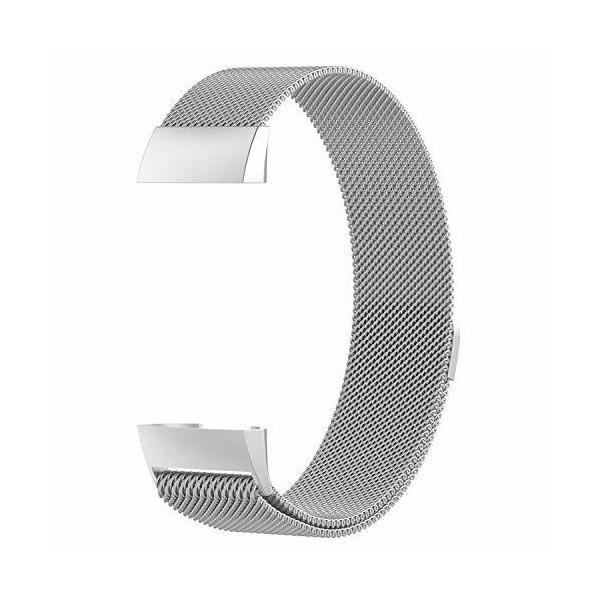 XIHAMA For Fitbit Charge3 バンド 磁気ブレスレット ミラノループ ステンレススチール製 2サイズ 交換リスト マグネット式