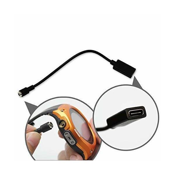 マグネット 充電 変換 アダプター ケーブル Type-C メス(10cm) for PRO TREK Smart WSD-F30 / WSD-F2