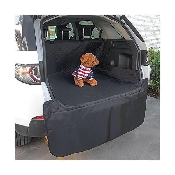 HONCENMAX ペット用ドライブシート 人気トランクマット 車用ペットシート 犬用カーシートカバー 防水 滑り止め 車後部座席 折り畳み式 取り|skygarden|02