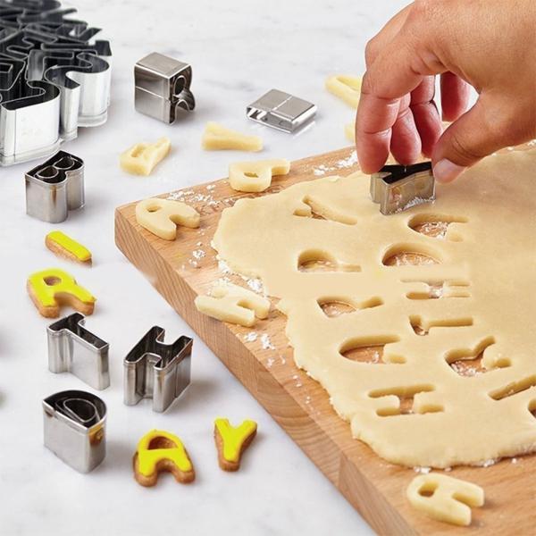 クッキー抜アルファベット クッキー抜型 ステンレス製 バラエティー クッキー型抜き お菓子作り 抜き型 クッキー抜き型セット  抜き型 35個セット|skyhy|02