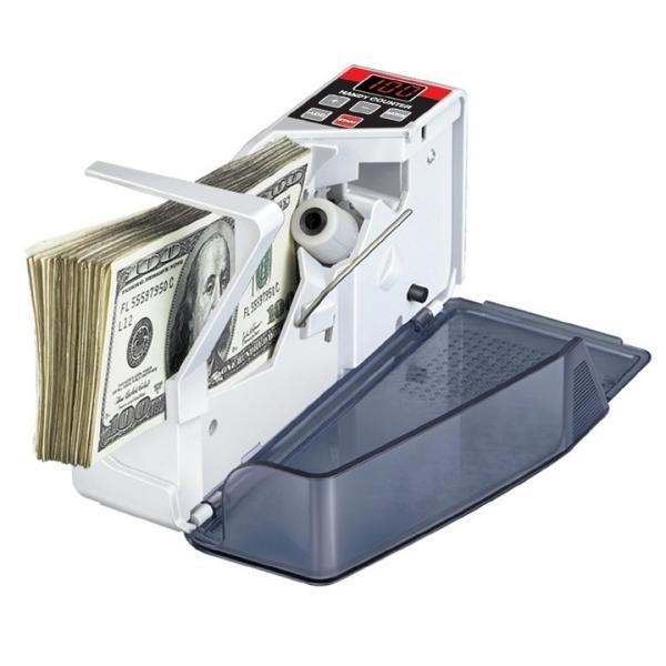 マネーカウンター 簡単計数 ハンディタイプ 持ち運び可能 ポータブルお札カウンタ 高速でカウント 紙幣カウンター V40|skynet|03