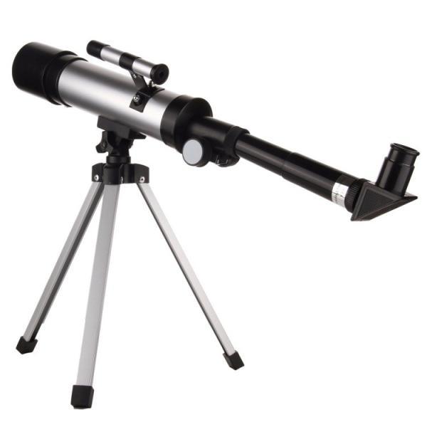 屈折式望遠鏡 最大倍率90倍 レンズ口径50mm 焦点距離360mm 三脚付き 小型軽量 エントリーレベル望遠鏡 EYE90X