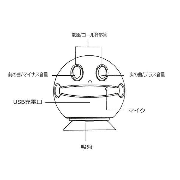 Bluetooth4.2対応 ワイヤレス ポータブルスピーカー 可愛いデザイン 通話機能 充電式 吸盤付き スマホスタンド 使用用途多彩 小型スピーカー SMSP42