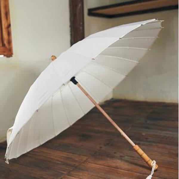傘 レディース 新色 かさ カサ おしゃれ 中国風 長傘 24本骨 アンブレラ レイングッズ 雨傘 復古 簡約 無地 sl-cat 05