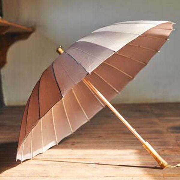 傘 レディース 新色 かさ カサ おしゃれ 中国風 長傘 24本骨 アンブレラ レイングッズ 雨傘 復古 簡約 無地 sl-cat 06