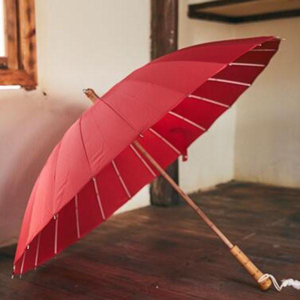 傘 レディース 新色 かさ カサ おしゃれ 中国風 長傘 24本骨 アンブレラ レイングッズ 雨傘 復古 簡約 無地 sl-cat 08