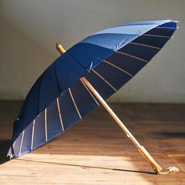 傘 レディース 新色 かさ カサ おしゃれ 中国風 長傘 24本骨 アンブレラ レイングッズ 雨傘 復古 簡約 無地 sl-cat 09