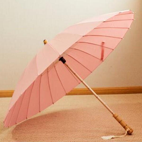傘 レディース 新色 かさ カサ おしゃれ 中国風 長傘 24本骨 アンブレラ レイングッズ 雨傘 復古 簡約 無地 sl-cat 10