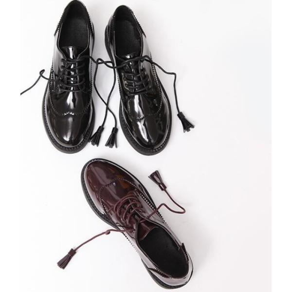 人気売れ筋NO.1 特価 送料無料 オックスフォードシューズ おじ靴 ぺたんこ ローカット エナメル靴 レディース おしゃれ