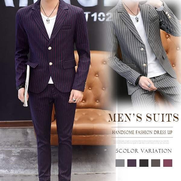 20960a59c805 父の日 プレゼント ビジネススーツ メンズ セットアップ 上下セット 紳士服 おしゃれ|sl- ...