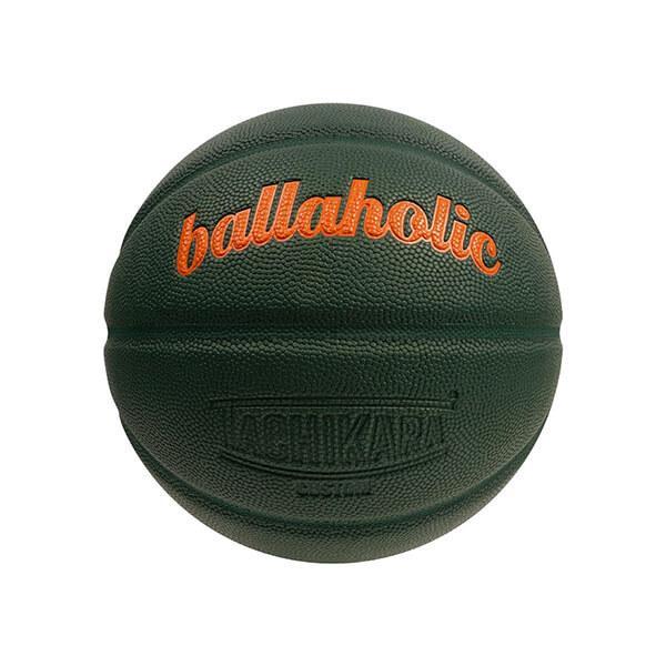 Ballaholic×TACHIKARA Playground Basketball(ボーラホリック タチカラ プレイグラウンド バスケットボール) ダークグリーン/オレンジ 7号球