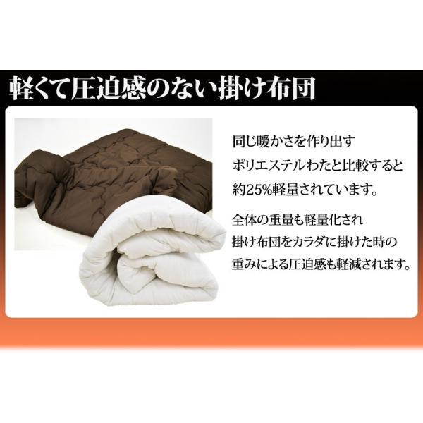掛け布団 シンサレート インシュレーション シングルサイズ 150×210cm 防ダニ 洗える thinsulate Insulation 暖かさ 羽毛の約2倍 掛布団 S 《1.TS4》|sleep-plus|04