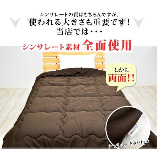 掛け布団 シンサレート インシュレーション シングルサイズ 150×210cm 防ダニ 洗える thinsulate Insulation 暖かさ 羽毛の約2倍 掛布団 S 《1.TS4》|sleep-plus|05
