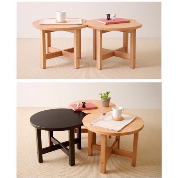木製 カフェテーブル    ナイトテーブル ウォールナット タモ 石崎家具|sleepy|04