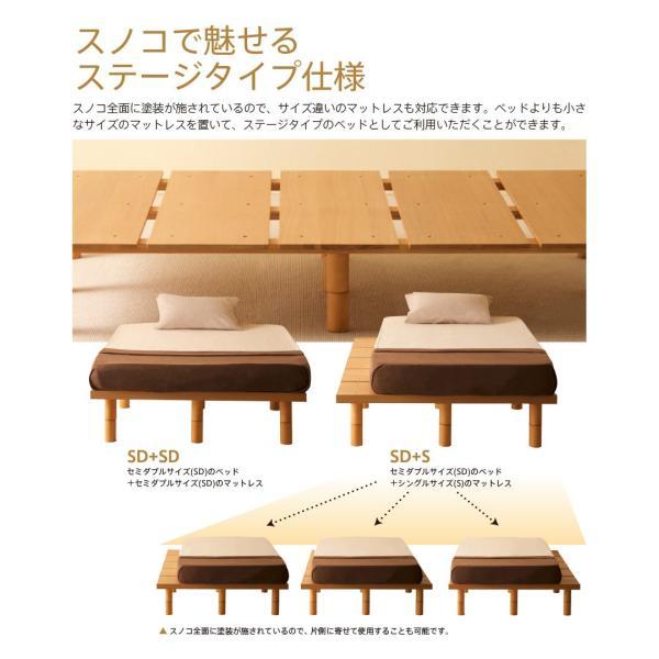 セミダブルベッド「mjuk(ミューク)SD(セミダブル)」 木製ベッドフレーム フレームのみ|sleepy|05