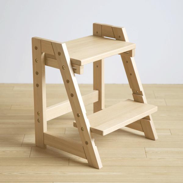 木製 ステップ&スツール(1段)    踏み台 子供 トイレ ステップ台 おしゃれ 4段階高さ調節可能 石崎家具 sleepy 08
