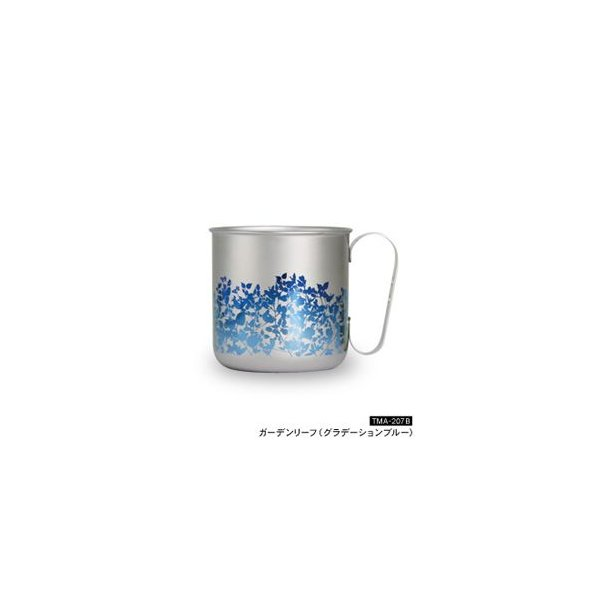 ホリエ チタンデザインマグカップ ガーデンリーフ(グラデーションブルー)