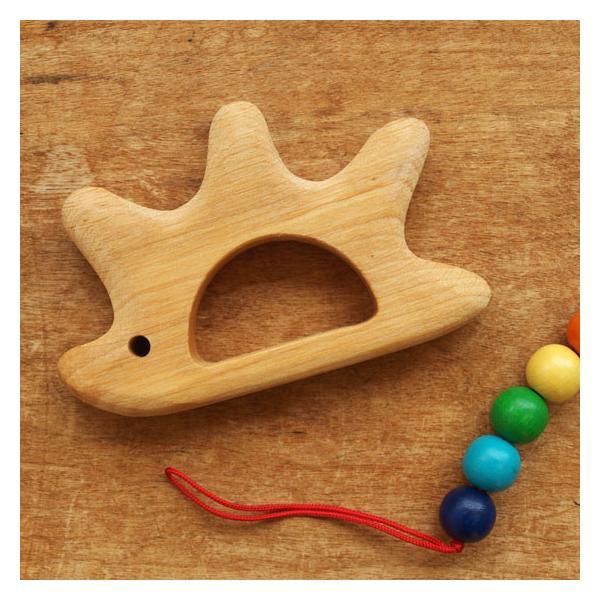 ラトル おもちゃ 木製 赤ちゃん 出産祝い かわいい ベビー 歯固め ドイツ GRIMM'S グリムス おしゃぶりラトル ハリネズミ