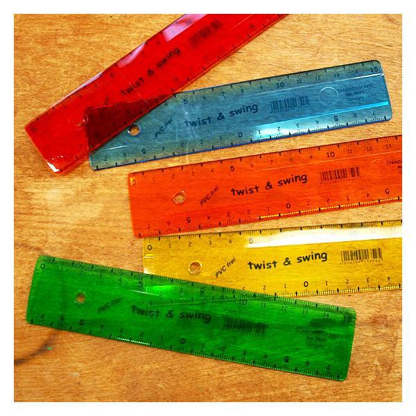 定規 かわいい おしゃれ 透明 小学生 15cm 文房具 ものさし ドイツ製 フレキシブル定規 メール便対象品