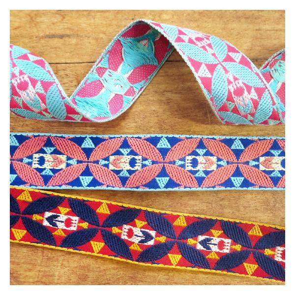 チロリアンテープ 刺繍リボン チロルリボン 手芸 かわいい おしゃれ 日本製 レピヤンリボン チロリアンテープ チューリップ メール便対象品