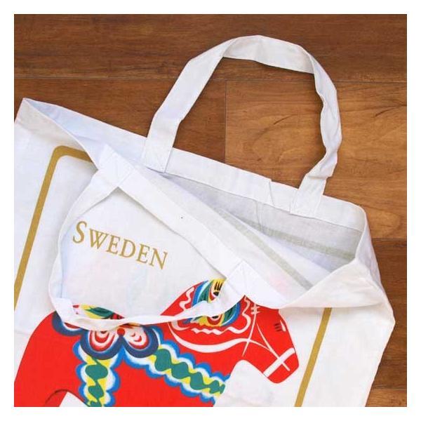 スウェーデン Grannas社 お土産 エコバッグ ダーラナホース メール便対象品